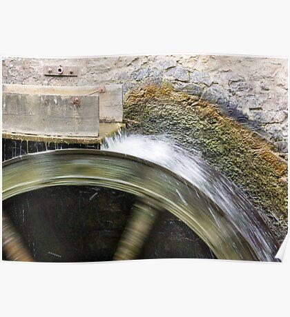 Working Water Wheel Poster