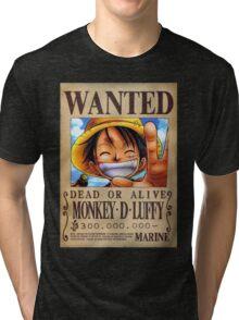 Monkey-D Luffy Wanted Tri-blend T-Shirt
