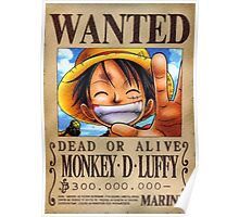 Monkey-D Luffy Wanted Poster