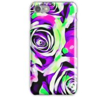 pink purple and green roses  iPhone Case/Skin