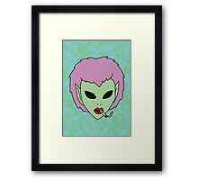 alien grunge girl Framed Print