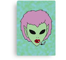alien grunge girl Canvas Print