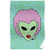 alien grunge girl Poster