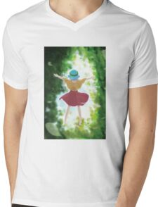 Freedom - Floating to the sky Mens V-Neck T-Shirt
