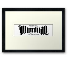 Combined Crew Ambigram - LIGHT Framed Print