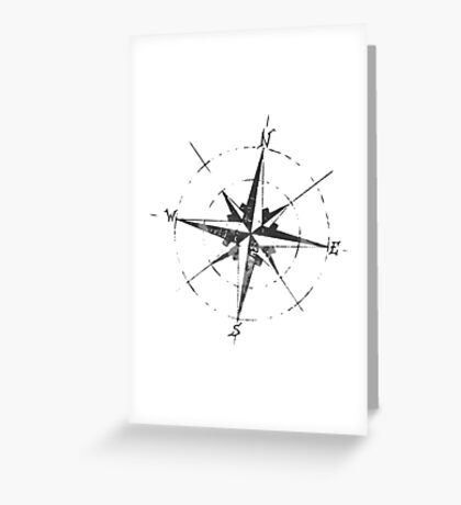 Skicc old compass for travelers Greeting Card