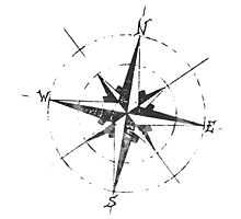 Skicc old compass for travelers Photographic Print