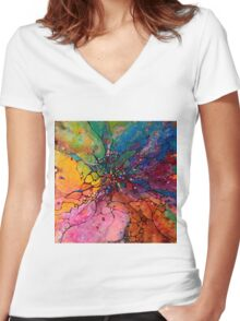 Jeweled Ascent Women's Fitted V-Neck T-Shirt