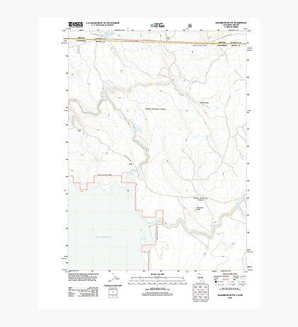 USGS TOPO Map California CA Sagebrush Butte 20120314 TM geo Photographic Print