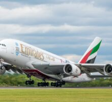 Emirates Airbus A380 Takeoff Sticker