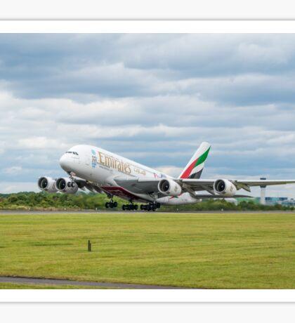 Emirates Airbus A380 Takeoff Sticker