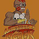Non-Violent Fighter (light color shirt) by Kravache