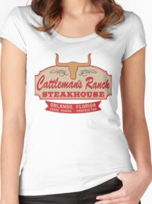 """Cattleman's Ranch Steakhouse"" -  as seen on ""Fresh Off The Boat"" Women's Fitted Scoop T-Shirt"