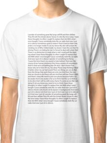 Car Radio Lyrics Classic T-Shirt