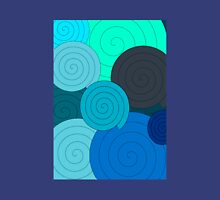 Blue spirals Unisex T-Shirt