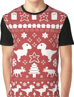Geeky Christmas Sweater ver.red Graphic T-Shirt