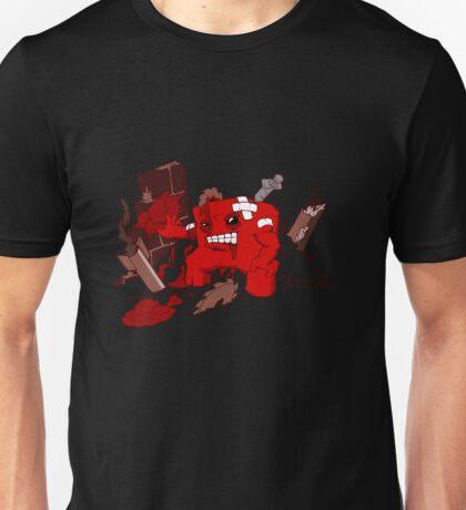 Lets Meat the Foetus (black tee) Unisex T-Shirt