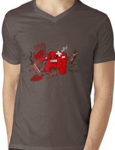 Lets Meat the Foetus (black tee) Mens V-Neck T-Shirt