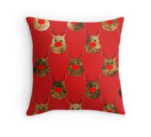 Reindeer Pattern Throw Pillow