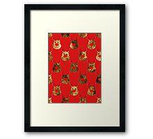 Reindeer Pattern Framed Print