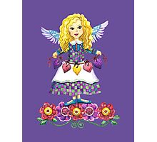 Angel Love Purple Photographic Print