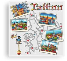 Color Travel book Tallinn, Estonia Canvas Print