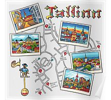 Color Travel book Tallinn, Estonia Poster