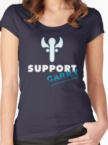 Support Carry - League of Legends LOL Women's Fitted Scoop T-Shirt