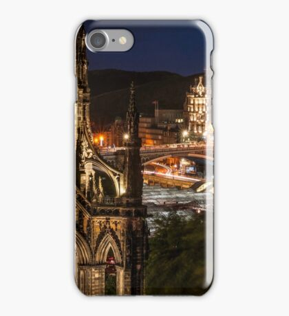 Old town view from Princes Street iPhone Case/Skin