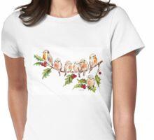 Seven Little Birds Womens Fitted T-Shirt
