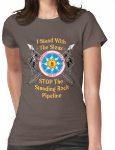 Standing Rock Sioux Crossed Arrows Womens Fitted T-Shirt