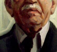 Retrato Gabriel García Márquez Sticker
