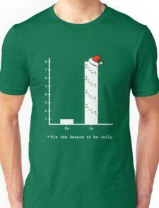 Christmas Carol Math Bar Graph Unisex T-Shirt