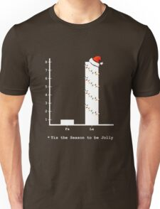Christmas Carol Math Bar Graph Unisex T-Shirt