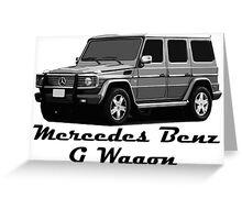 Mercedes Benz G Wagon Greeting Card
