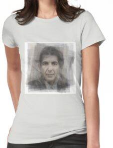 Leonard Cohen Portrait Womens Fitted T-Shirt