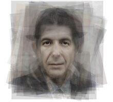 Leonard Cohen Portrait Photographic Print