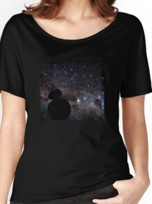 Star Wars VII. BB8 siluette in the space Women's Relaxed Fit T-Shirt