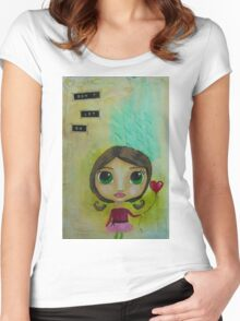Don't Let Go Women's Fitted Scoop T-Shirt