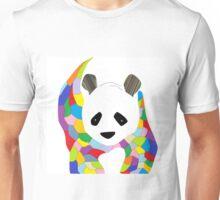Patchwork Panda Unisex T-Shirt