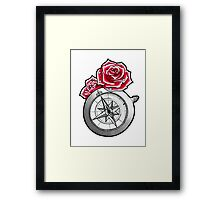 Rose Compass Framed Print
