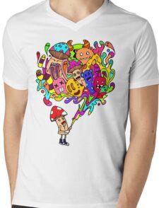 Mushroom Jizz Mens V-Neck T-Shirt