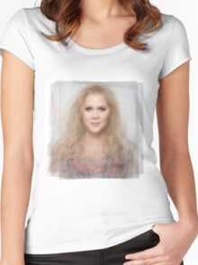 Amy Schumer Portrait Women's Fitted Scoop T-Shirt