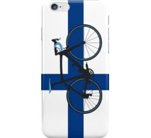 Bike Flag Finland (Big - Highlight) iPhone Case/Skin