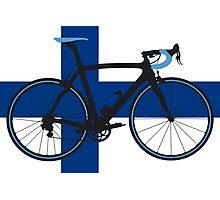 Bike Flag Finland (Big - Highlight) Photographic Print