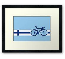 Bike Stripes Finland Framed Print