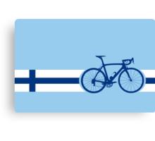 Bike Stripes Finland Canvas Print