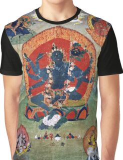 Green Tara Tibetan Buddhist Religious Art Graphic T-Shirt