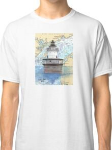 Lubec Channel Lighthouse ME Nautical Chart Cathy Peek Classic T-Shirt