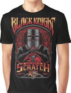 Holy Grail Black Knight Tis But A Scratch Ale Graphic T-Shirt